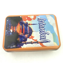 100x65x25mm Factory directly sale Low price High quality rectangle gift card metal tin box