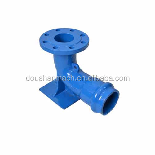 PVC socket flange duck leg bend clay sand casting with loosing flange
