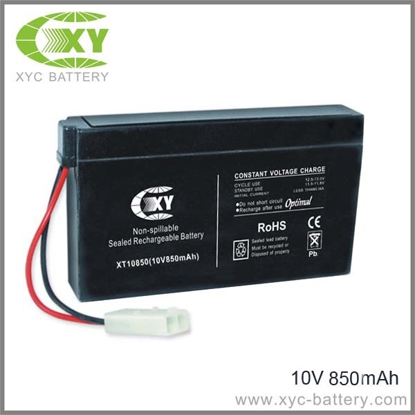 10V 850mAh Rechargeable Batteries for toy