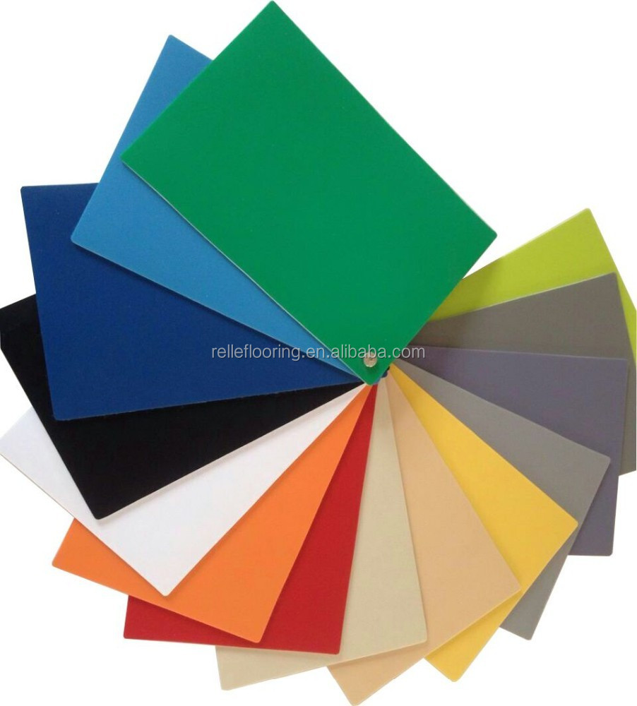 pure color pvc commerical flooring use in basketball court in China
