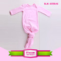 0-24M Baby Sleep Wear Solid color Long Sleeve Baby Sleeping Bag Pink Knotted Baby Gowns