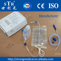 Silicone transparant Drainage Ball, bag, drainge tube kit