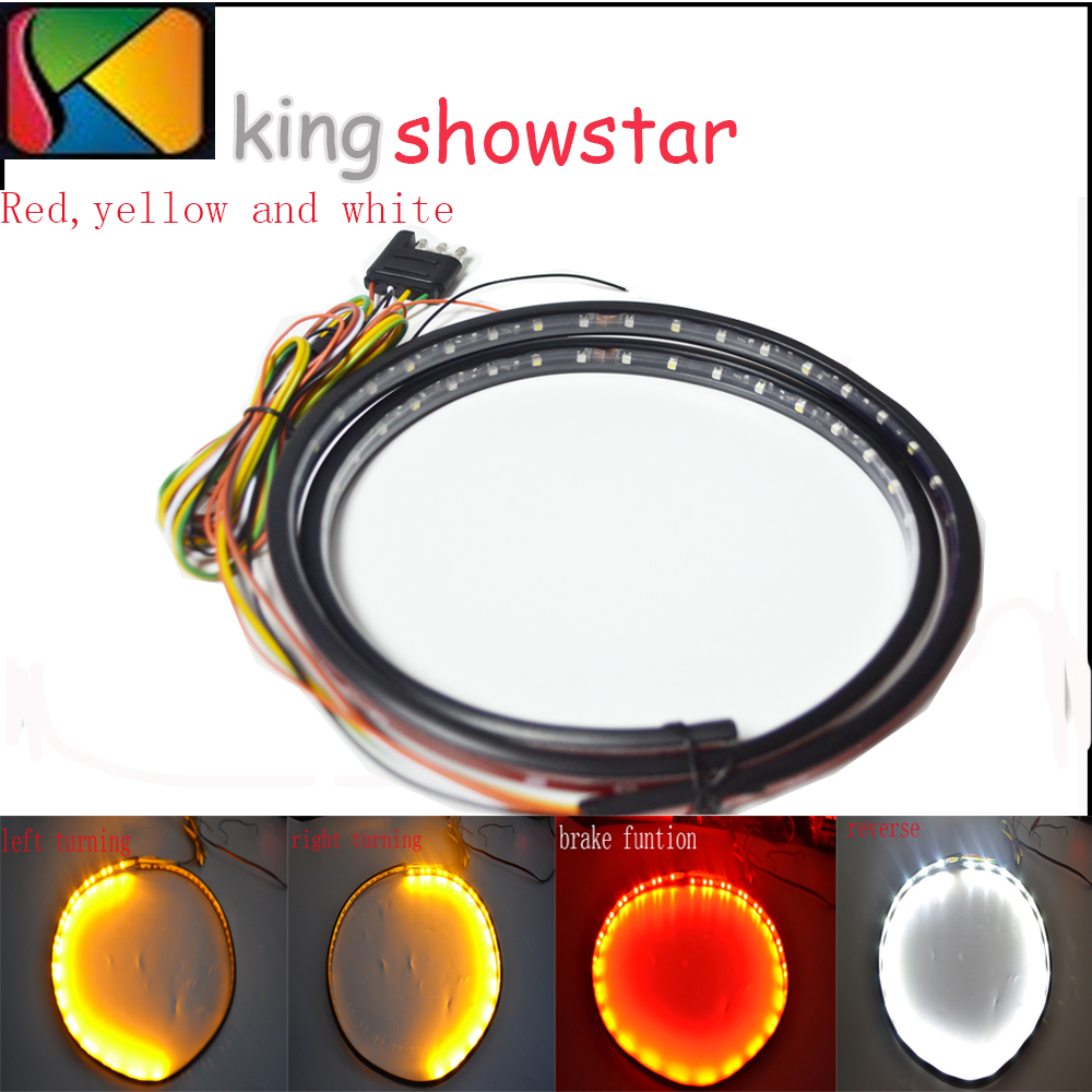 "122CM 48"" Yellow & white&RED LED TAILGATE TURN/BRAKE/REVERSE LED TAIL LIGHT SIGNAL STRIP BAR"