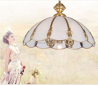 Top level European creative brass ceiling light bedroom