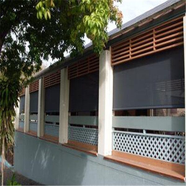 outdoor electric waterproof roller blinds and protect from wind