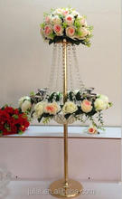 Metal and glass candelabra for wedding decoration table/crystal candelabra centerpieces wholesale