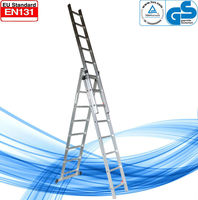 WK-E07 Quick Connect Industrial Extension Ladder 3-Part 3 x 7