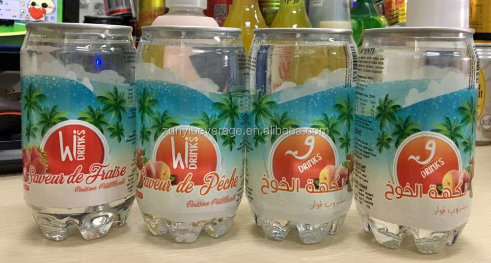 China Wholesale New product Peach Flavour sparkling soft drinks