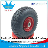 Pneumatic wheel 10 inch 3.50-4 Stud Tyre 3/4in Bore