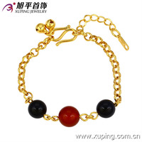 73176-xuping fashion jewelry dubai 24k yellow gold lucky stone bracelets for women