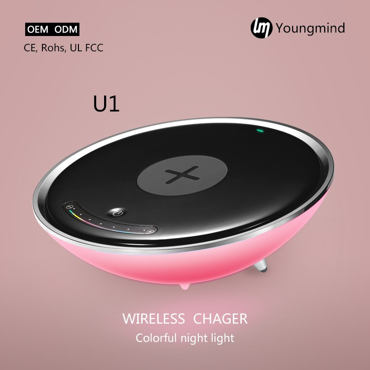 U1 Home goods qi charging or wireless charging bed table lamps