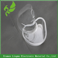 2015 New design heart shape sauce clear mini plastic container box with PP.