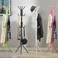 wholesale cheap convenient black metal coat rack for clothes
