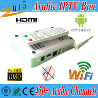 2015 latest IPTV box Arabic IPTV Box HD Android 4.4 tv box Wifi receiver tv OS BN sport channels xbmc 1 Year free