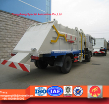 dongfeng hydraulic loading rubbish truck, tianjin Docking waste Truck 15tons