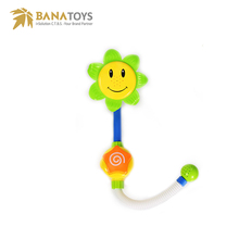 Free shipping baby Bath gift shower sunflower squeeze toys