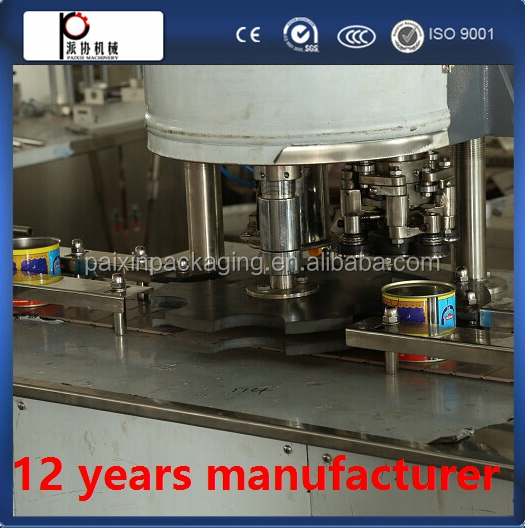High speed operating tin can marmalade packing machine
