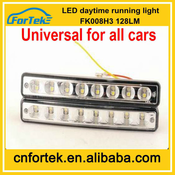 CE approved Auto switch luces led diurnas drl FK-08H3 universal car accessory