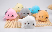 Super CUTE 6Colors SEA Seal 8CM Plush Stuffed TOY DOLL Wedding Bouquet GIFT Plush Keychain DOLL
