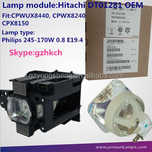 Genuine HITACHI DT01281 Projector Lamp with module