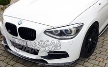 3D Style FRONT LIP SPOILER For BMW F20 1-SERIES M TECH M SPORT BUMPER 11-14 B118F