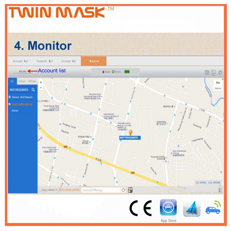 GPS tracking platform mobile phone software