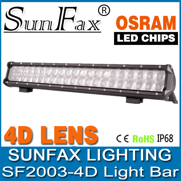 Factory direct high lms 19.8inch 126W led offroad light bar tow truck double row led light bar