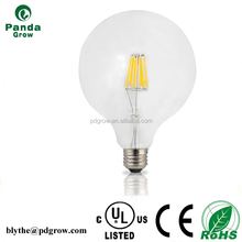 Lighting UL cUL listed shadowless sliver coating G80 6W e27 silver reflector led filament bulb