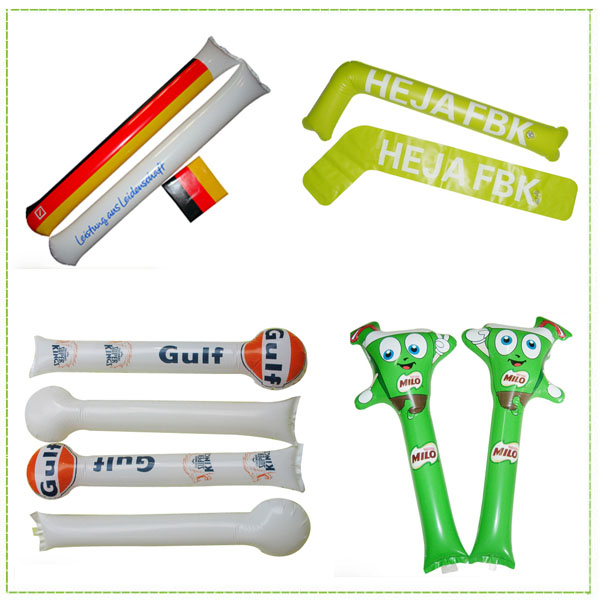 Custom printing noise thunder inflatable clapper sticks