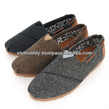 ssd01218 Slip on woolen mix shoes