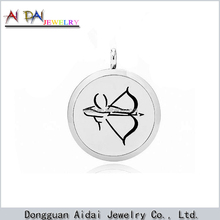 12 constellations Sagittarius fashion jewelry stainless steel round perfume essential oil diffuser pendant locket
