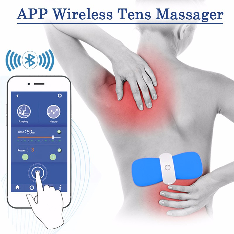 Sunmas App phone bluetooth remote control Low level transcutaneous electrical nerve stimulation tens