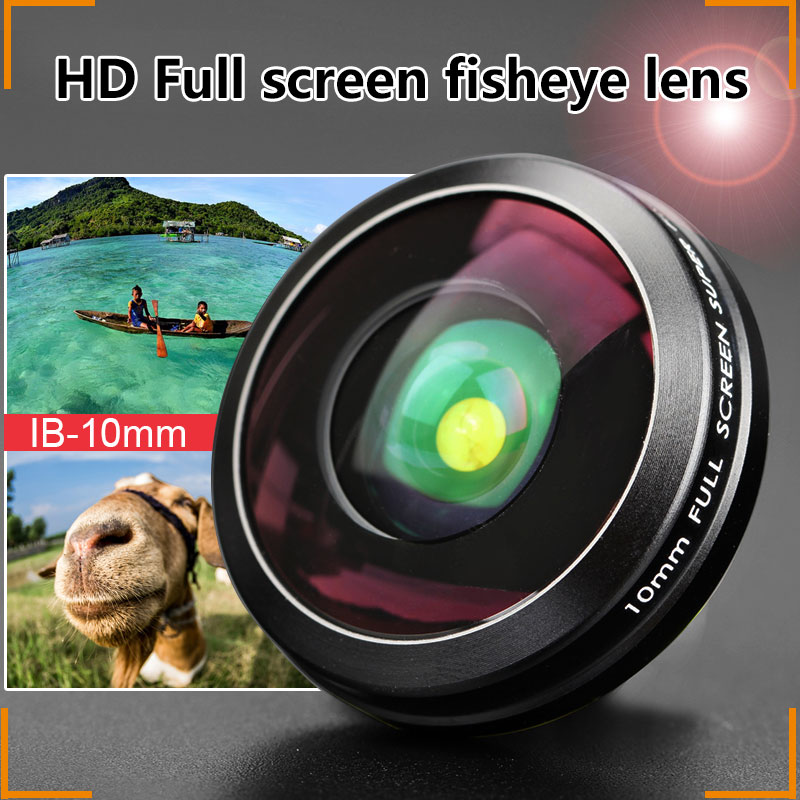 Cell phone full screen 10MM super fisheye lens with case high quality
