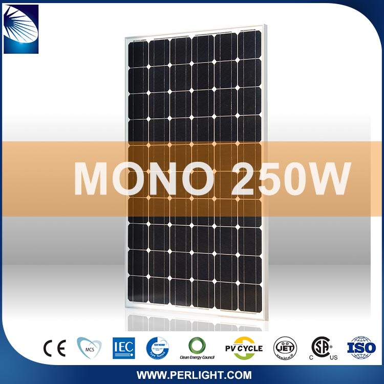 Portable Compact Roof Pv China Manufacturer 250W Solar Panel