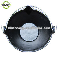10L Plastic Flexible Rubber Feeding Bucket