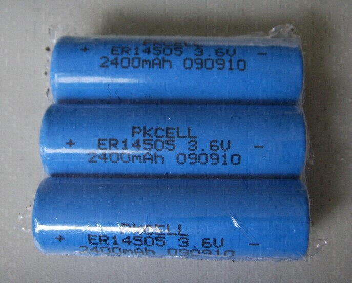 PKCELL 1800mAh ER14505 battery Li-SOCl2 Lithium Battery for Ammeter