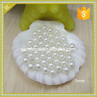 Wholesale welcome 5mm loose pearls no holes colorful