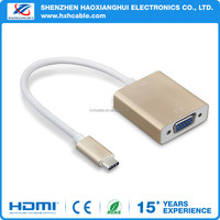 Newest high Speed Multifunctional USB 3.1 type-c to VGA adapter cable
