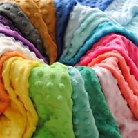 USA Fashion 26 Colors Waterproof Baby Embossed Minky Dot Fabric