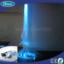 Solid color DIY small crystal chandelier with 16W RGB light fibre optic strain remote controller