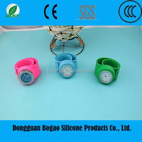 2015 Promotional Silicone Slap Band Wristwatch