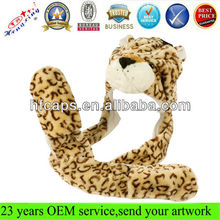 2013 fashion long scarf plush adult winter fur hat animal ears
