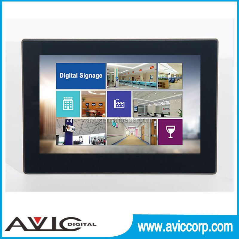 Big Screen display 10.1 Inch Android POE Wall Mount Tablet PC For Inwall Flush Mount mobile phone function