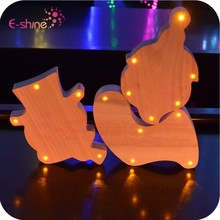 Home Decoration Wooden Customize DIY Light -Up Letters