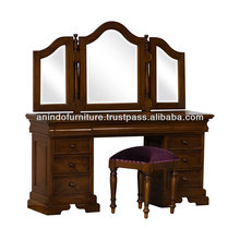 New Sleigh Dressing Table with Mirror Stool