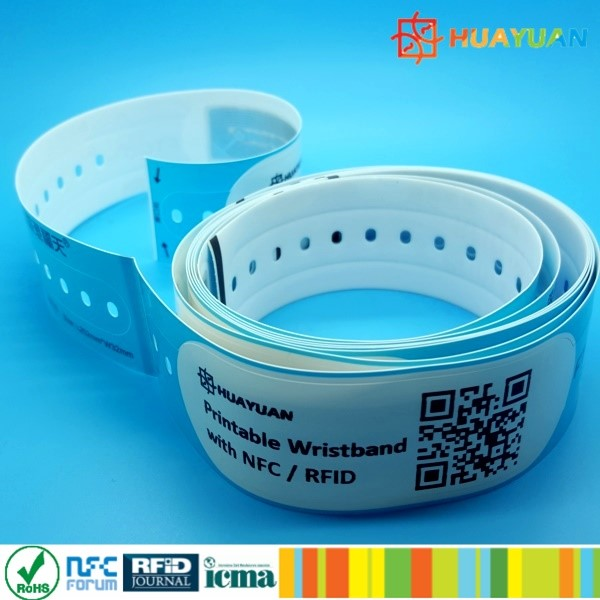 ISO 14443A MIFARE Classic EV1 1K Vinyl PP synthetic rfid paper Bracelet for event