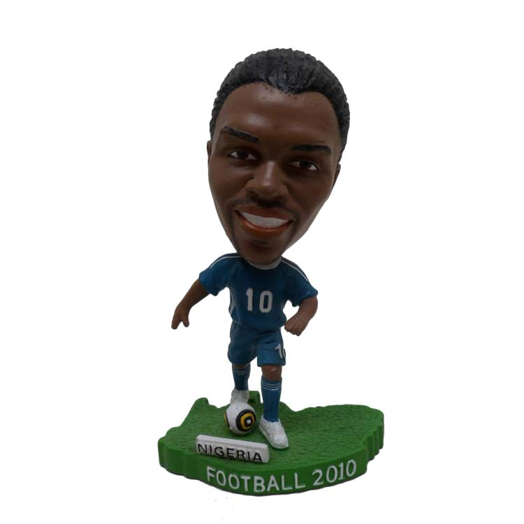 Factory Sale Resin Soccer Player Bobble Head