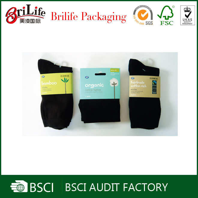 Fancy recycle sock packaging sleeve supplier