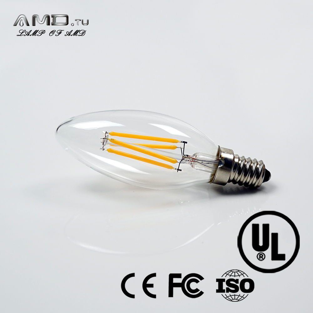 long tail led candle bulb c35 ENERGY STAR listed e12 base 3w 120v