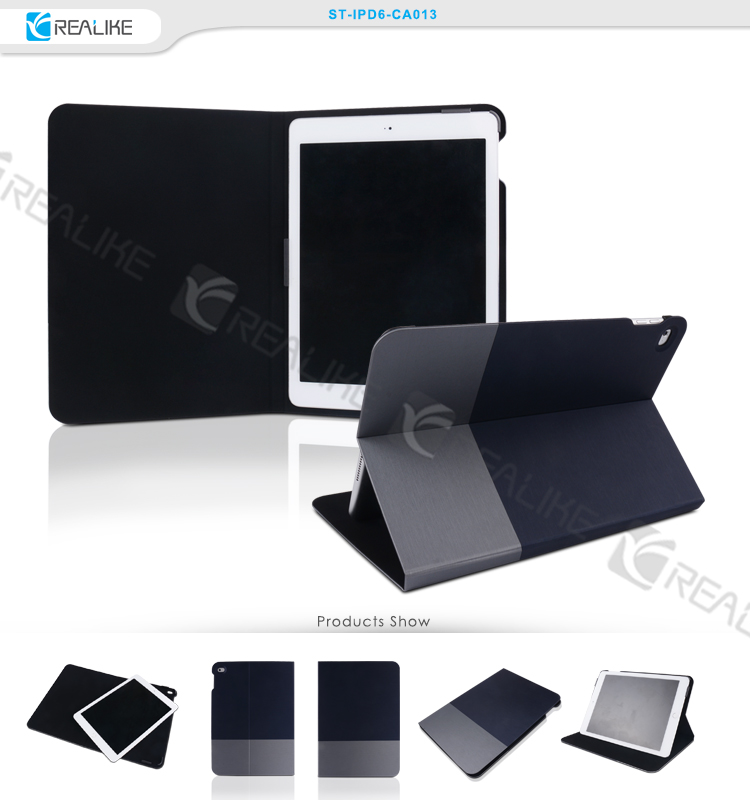 pu leather stand cover tablet case for ipad air 2 , for ipad 6 case